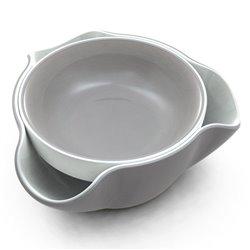 Блюдо для снека Double Dish серое