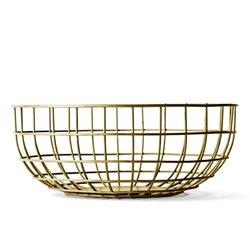 Ваза Norm Wire Bowl латунь