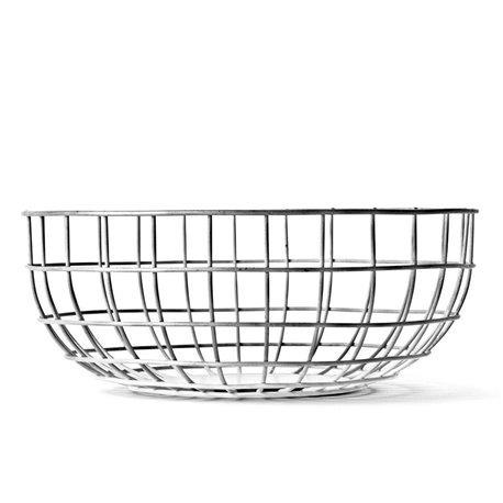 Ваза Norm Wire Bowl хром