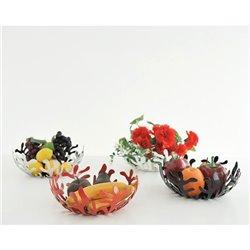 Ваза для фруктов Mediterraneo красная средняя