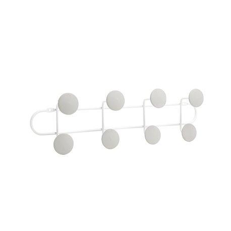 Вешалка надверная на 8 крючков YOOK белый/серый
