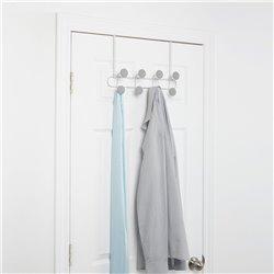 Вешалка надверная на 8 крючков YOOK белый/серый, Umbra