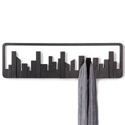 Вешалка настенная Skyline черная, Umbra