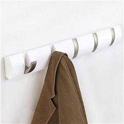 Вешалка настенная Flip 5 крючков белая, Umbra