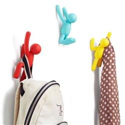 Вешалки-крючки Buddy 3 шт. разноцветные, Umbra
