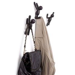 Вешалки-крючки Buddy 3 шт. черные, Umbra