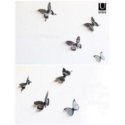 Декор для стен Chrysalis 15 элементов черный/прозрачный, Umbra