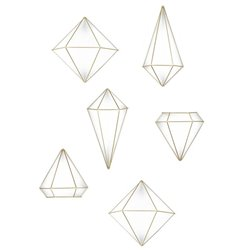 Декор для стен Prisma латунь