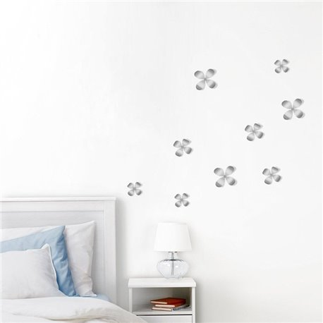 Декор для стен Wallflower 9 никель