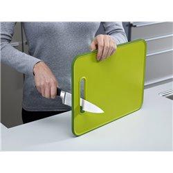 Доска разделочная с ножеточкой Slice & Sharpen большая зеленая, Joseph Joseph