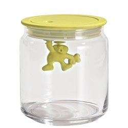 Емкость стеклянная Gianni 0,7 л. (желтая крышка), Alessi