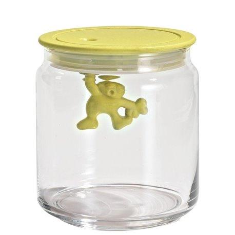 Емкость стеклянная Gianni 0,7 л. (желтая крышка)