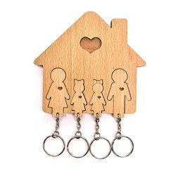 Ключница «Семья с двумя дочками», Mimi