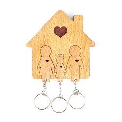 Ключница «Семья с дочерью»