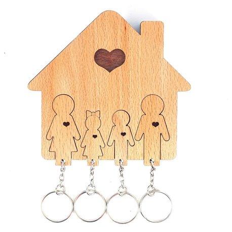 Ключница «Семья с сыном и дочерью»