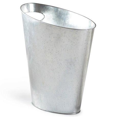 Контейнер мусорный Skinny металлик
