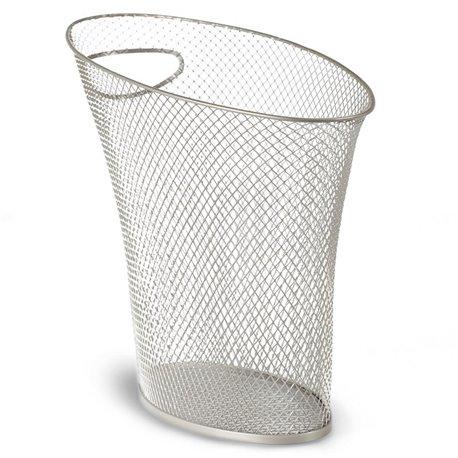 Контейнер мусорный Skinny серебристая сетка