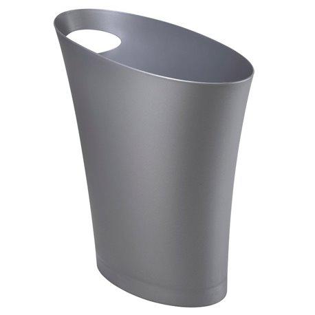 Контейнер мусорный Skinny серебристый