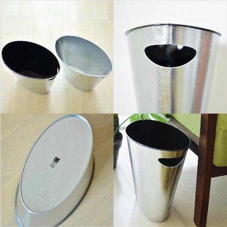 Контейнер мусорный Skinny черный/никель