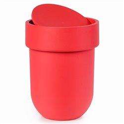 Контейнер мусорный Touch с крышкой красный
