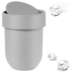 Контейнер мусорный Touch с крышкой серый, Umbra