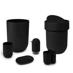Контейнер мусорный Touch с крышкой черный, Umbra
