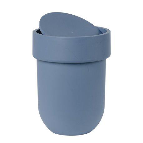 Корзина для мусора с крышкой Touch дымчато-синий