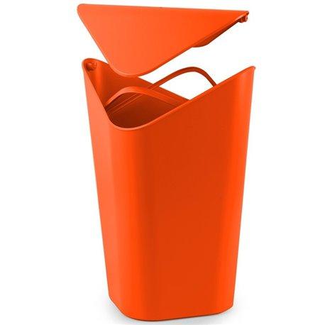 Корзина для мусора угловая Corner оранжевая