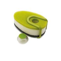 Набор губок с капсулой для моющего средства Soapy Sponge зеленый, Joseph Joseph