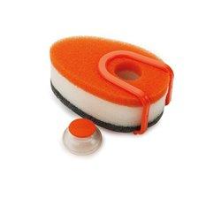 Набор губок с капсулой для моющего средства Soapy Sponge™ оранжевый