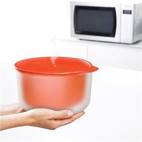 Миска для микроволновой печи M-Cuisine 2l оранжевая