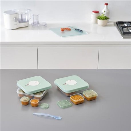 Набор из 15 контейнеров для детского питания с датируемой крышкой dial baby (ступени 1 и 2)