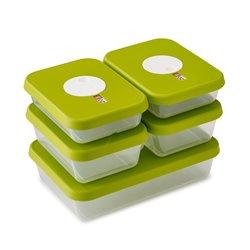 Контейнеры для хранения продуктов Dial прямоугольные 5 шт., Joseph Joseph