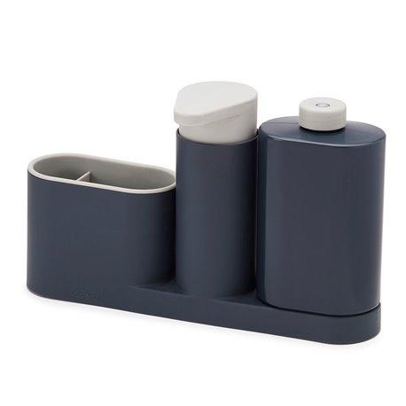 Органайзер для раковины с дозатором и бутылочкой SinkBase Plus серый
