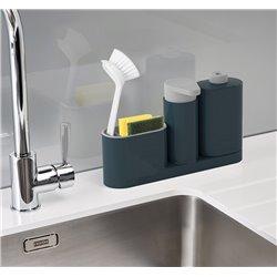 Органайзер для раковины с дозатором и бутылочкой SinkBase Plus серый, Joseph Joseph