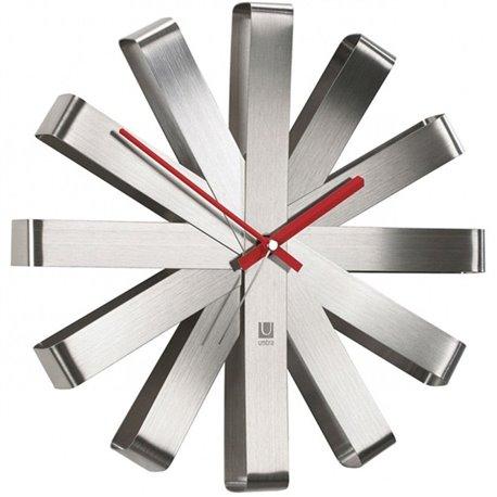 Настенные часы Umbra Ribbon сталь