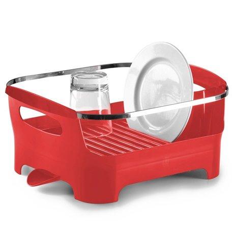 Сушилка для посуды basin красная