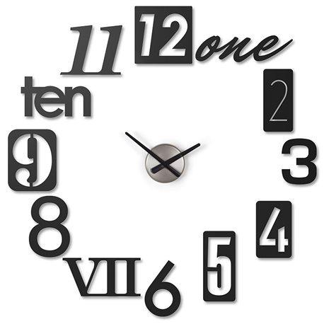 Настенные часы Umbra Numbra черные
