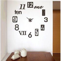 Настенные часы Numbra черные, Umbra