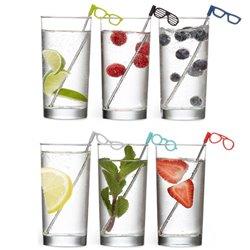 Соломинки для коктейля Glasses 6 шт., Umbra