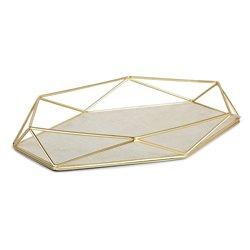 Органайзер-поднос для украшений prisma матовая латунь