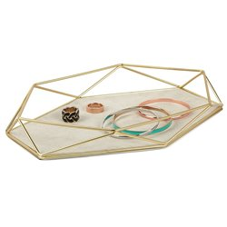 Органайзер-поднос для украшений prisma матовая латунь, Umbra
