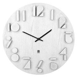 Часы настенные Shadow белые
