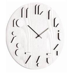 Часы настенные Shadow белые, Umbra
