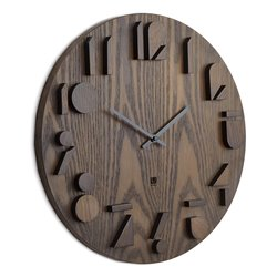 Часы настенные shadow орех