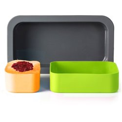 Форма для выпечки под ланч-бокс mb original зеленая+оранжевая
