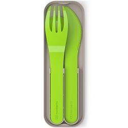 Набор из 3 столовых приборов MB Pocket зеленый