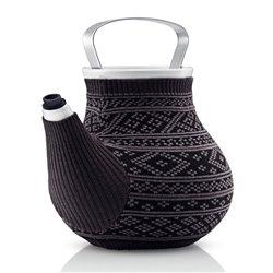 Чайник заварочный My Big Tea в вязаном чехле 1,5 л серый с узором