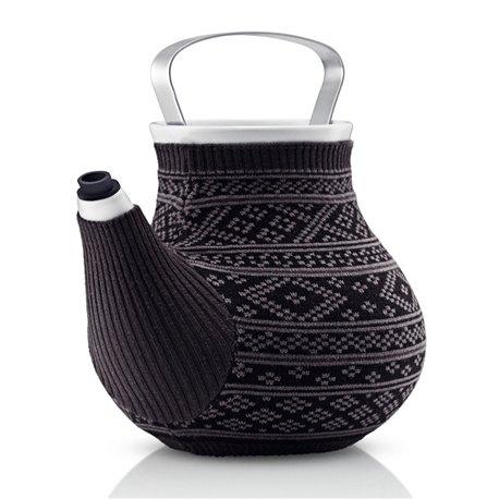 Чайник заварочный My Big Tea в вязаном чехле 1,5 л серый с узором, Eva Solo