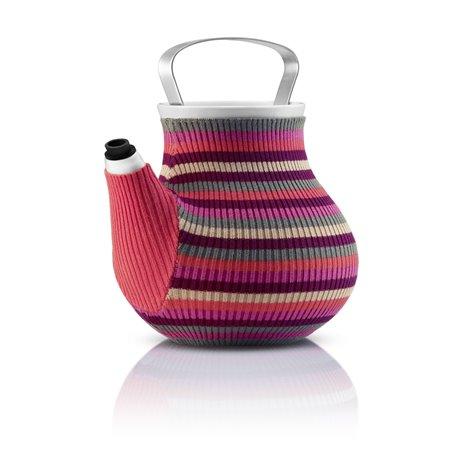 Чайник заварочный my big tea в вязаном чехле 1,5 л розовый в полоску, Eva Solo